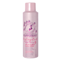 Dry shampoo styling dust spray